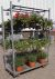 Danish container with hanging baskets in our rack
